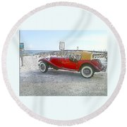 Cartoon Car Round Beach Towel