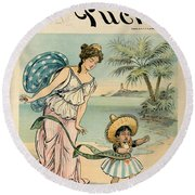 Cartoon: Cuba, 1902 Round Beach Towel