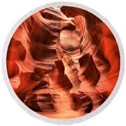 Carved Canyon Wals Round Beach Towel
