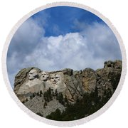 Carved In Stone For Eternity Round Beach Towel