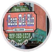 Casa Del Rio In Roma Texas Round Beach Towel