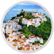 Casares From Laura's View Round Beach Towel