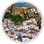 Casares From Signal Hill Round Beach Towel
