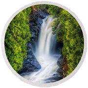 Cascade - Lower Falls Round Beach Towel