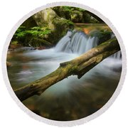 Cascade River Round Beach Towel