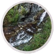 Cascadilla Falls Creek Gorge Trail Giant's Staircase Round Beach Towel