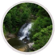 Cascadilla Waterfalls Cornell University Ithaca New York 02 Round Beach Towel