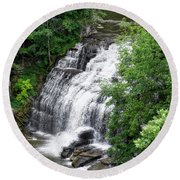 Cascadilla Waterfalls Cornell University Ithaca New York 03 Round Beach Towel