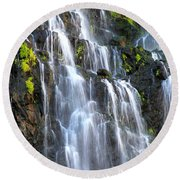 Cascading Springs Snake River Canyon Round Beach Towel