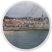 Cascais, Portugal Round Beach Towel