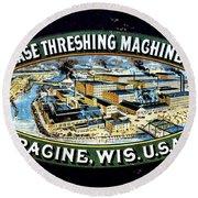 Case Threshing Machine Co Round Beach Towel