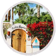 Casitas Laquita Palm Springs Round Beach Towel