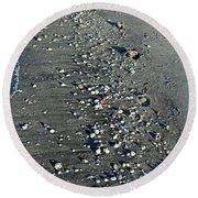 Caspersen Beach- Vertical Round Beach Towel