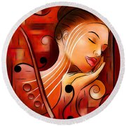 Casselopia - Violin Dream Round Beach Towel