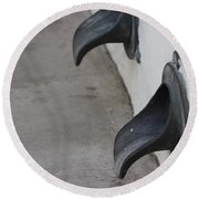 Cast Iron Rain Spouts In Stucco Building Photograph By Colleen Round Beach Towel