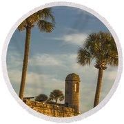 Castillo De San Marcos Dawn II Round Beach Towel