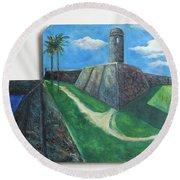 Castillo De San Marcos Round Beach Towel
