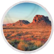Castle Butte Round Beach Towel