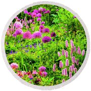 Castle Gardens Round Beach Towel