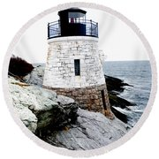 Castle Hill Light Round Beach Towel