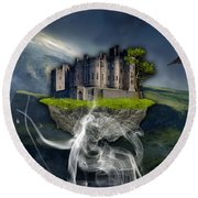 Castle In The Sky Art Round Beach Towel