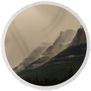 Castle Mountain Round Beach Towel