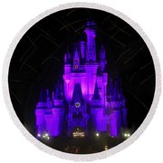 Castle Of Cinderella Round Beach Towel