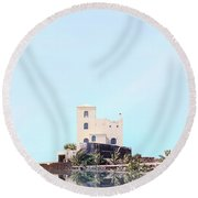 Castle Reflection Round Beach Towel