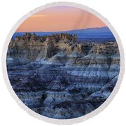 Castle Rock Sunset Round Beach Towel