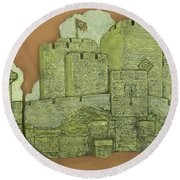 Castle Rushen Round Beach Towel