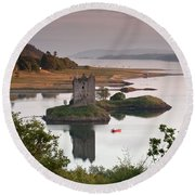 Castle Stalker Round Beach Towel