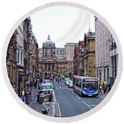 Castle Street - Liverpool Round Beach Towel