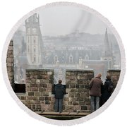Castle View Round Beach Towel