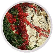Castle Vines Round Beach Towel
