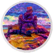 Castles In The Sand Cs-1a Round Beach Towel