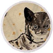Cat 3 Round Beach Towel