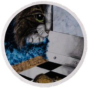 Cat And Mouse Round Beach Towel