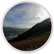 Cat Bells In Cumbria Uk Round Beach Towel