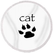 cat Round Beach Towel