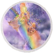 Cat In The Dreaming Hat Round Beach Towel