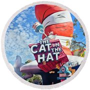 Cat In The Hat Series 2999 Round Beach Towel