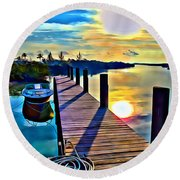 Cat Island Round Beach Towel