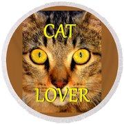 Cat Lover Spca Round Beach Towel