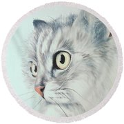 Cat Round Beach Towel
