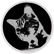 Cat On A Hot Tin Roof Round Beach Towel