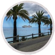 Catalina Palms Round Beach Towel