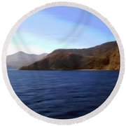 Catalina Shoreline Round Beach Towel