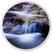 Cataract Falls Round Beach Towel