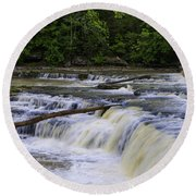 Cataract Falls Phase 1 Round Beach Towel