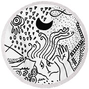 Catastrophe Round Beach Towel
